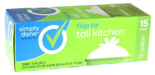 Simply Done Flap Tie Tall Kitchen Bags 13Gal