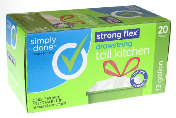 Simply Done Strong Flex Drawstring Tall Kitchen Bags