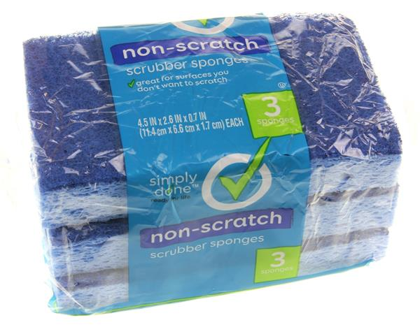 Simply Done Non-Scratch Sponges 3Ct