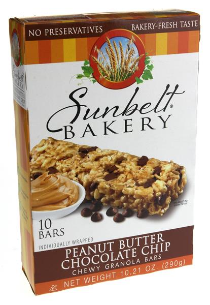 Sunbelt Bakery Peanut Butter Chocolate Chip Chewy Granola Bars 10 Count