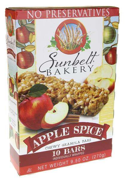 Sunbelt Bakery Apple Spice Chewy Granola Bars 10Ct