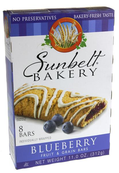 Sunbelt Bakery Blueberry Fruit & Grain Bars 8Ct