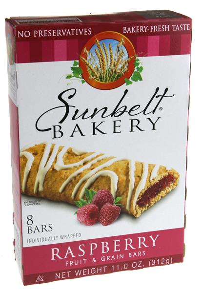 Sunbelt Bakery Raspberry Fruit & Grain Bars 8Ct