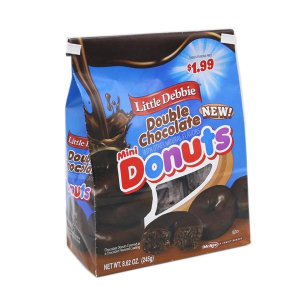 Little Debbie Double Chocolate Mini Donuts Pre-Priced