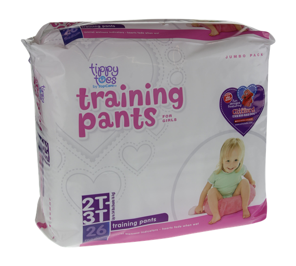 Tippy Toes For Girls 2T-3T Jumbo Pack Training Pants