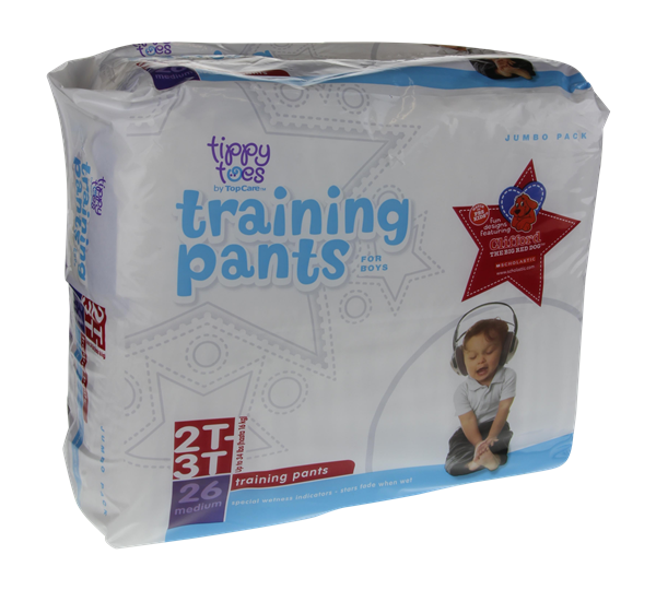 Tippy Toes For Boys 2T-3T Jumbo Pack Training Pants