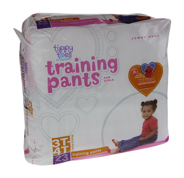 Tippy Toes For Girls 3T-4T Jumbo Pack Training Pants
