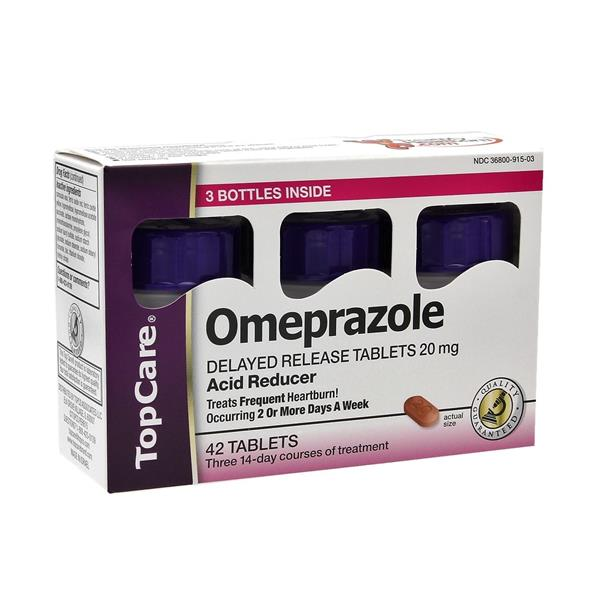 TopCare Omeprazole Tablets 3-14 Day Course