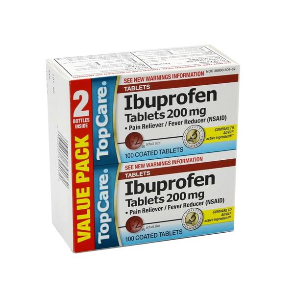 TopCare Ibuprofen Tablets 200mg 2 Pack