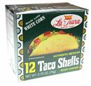 La Tiara Taco Shells White Corn 12Ct