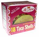 La Tiara Taco Shells White Corn 18Ct