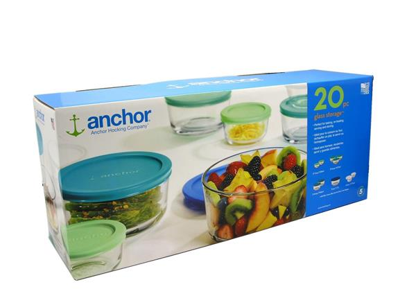 Anchor Hocking 20pc Glass Storage Hy Vee Aisles Online Grocery