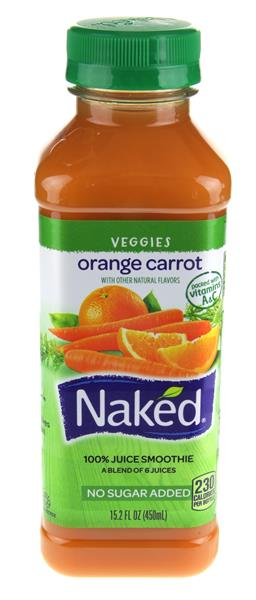 Naked Orange Carrot 100% Fruit & Veg Juice Smoothie